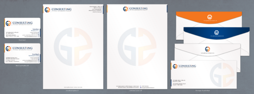 Professiional stationary design for a consulting firm