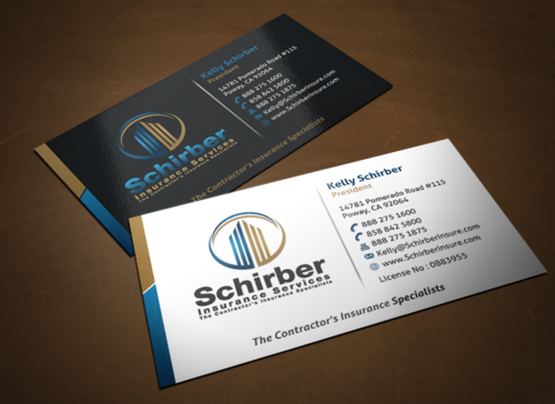 "Schirber Insurance Services ""The Contractor's Insurance Specialists"" Business Cards and Stationery  Draft # 244 by einsanimation"