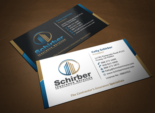 "Schirber Insurance Services ""The Contractor's Insurance Specialists"" Business Cards and Stationery  Draft # 245 by einsanimation"