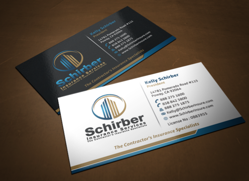"Schirber Insurance Services ""The Contractor's Insurance Specialists"" Business Cards and Stationery  Draft # 246 by einsanimation"