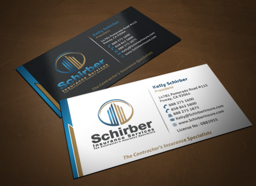 "Schirber Insurance Services ""The Contractor's Insurance Specialists"" Business Cards and Stationery  Draft # 247 by einsanimation"