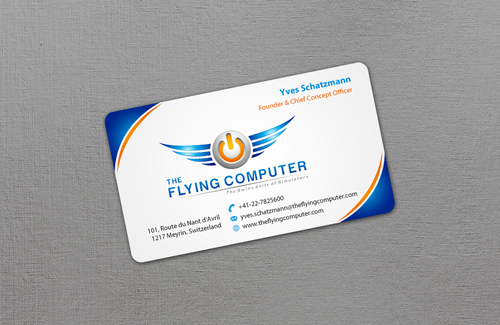 The Flying Computer Business Cards and Stationery  Draft # 11 by einsanimation