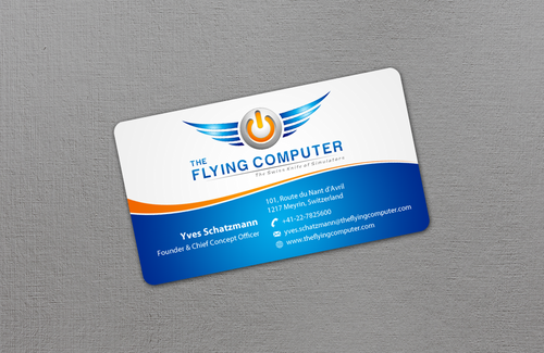 The Flying Computer Business Cards and Stationery  Draft # 16 by einsanimation