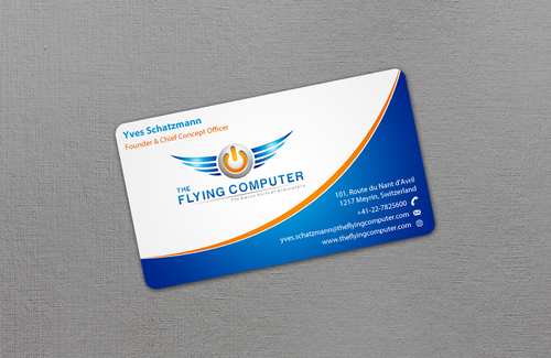 The Flying Computer Business Cards and Stationery  Draft # 20 by einsanimation