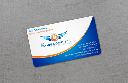 The Flying Computer Business Cards and Stationery  Draft # 21 by einsanimation