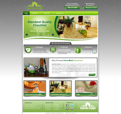 Website Design Home Maid Solutions