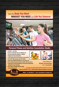 1 Page Flyer for Fitness & Nutrition Consultant Marketing collateral  Draft # 38 by dotscoms