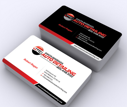 Santa Barbara Auto Detailing Business Cards and Stationery  Draft # 4 by ArtworksKingdom
