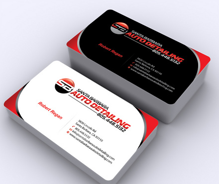 Santa Barbara Auto Detailing Business Cards and Stationery  Draft # 7 by ArtworksKingdom
