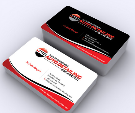 Santa Barbara Auto Detailing Business Cards and Stationery  Draft # 8 by ArtworksKingdom