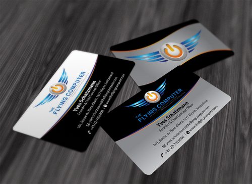 The Flying Computer Business Cards and Stationery  Draft # 197 by waterdropdesign