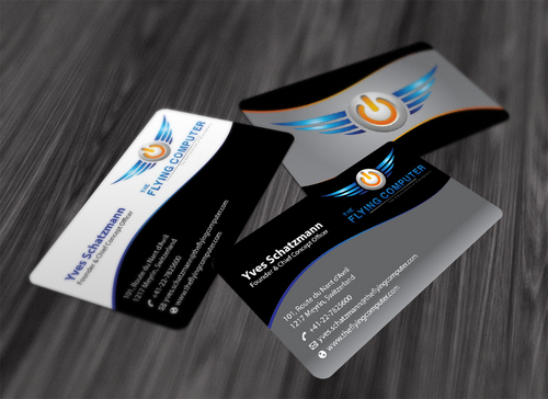 The Flying Computer Business Cards and Stationery  Draft # 198 by waterdropdesign