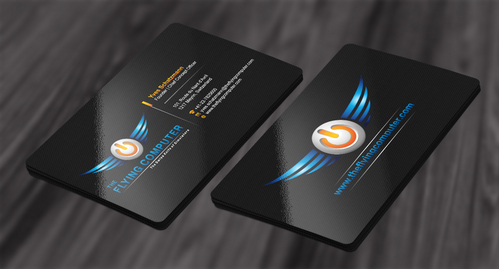 The Flying Computer Business Cards and Stationery  Draft # 209 by cArnn