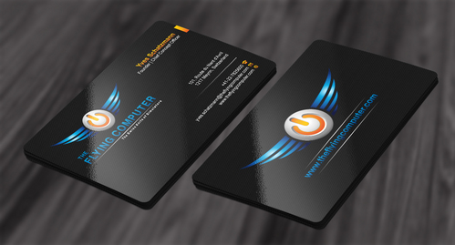 The Flying Computer Business Cards and Stationery  Draft # 211 by cArnn