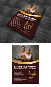 1 Page Flyer for Fitness & Nutrition Consultant Marketing collateral  Draft # 50 by arifariyadi