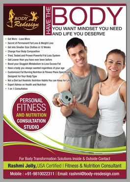 1 Page Flyer for Fitness & Nutrition Consultant Marketing collateral  Draft # 52 by destudio