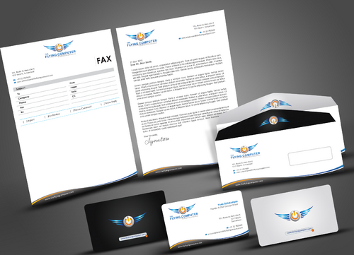 The Flying Computer Business Cards and Stationery  Draft # 222 by artup14