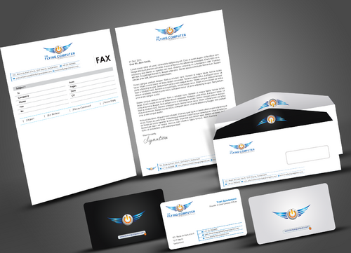 The Flying Computer Business Cards and Stationery  Draft # 223 by artup14