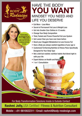 1 Page Flyer for Fitness & Nutrition Consultant Marketing collateral  Draft # 54 by destudio