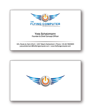 The Flying Computer Business Cards and Stationery  Draft # 232 by cinco