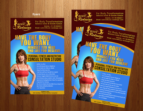 1 Page Flyer for Fitness & Nutrition Consultant Marketing collateral  Draft # 55 by boygraphics