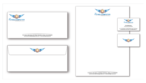 The Flying Computer Business Cards and Stationery  Draft # 233 by cinco