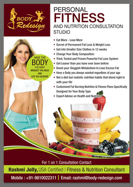 1 Page Flyer for Fitness & Nutrition Consultant Marketing collateral  Draft # 58 by destudio