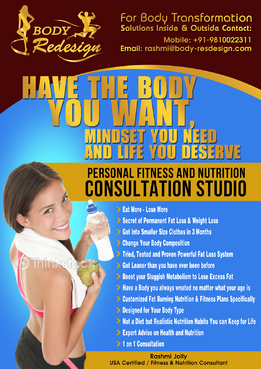 1 Page Flyer for Fitness & Nutrition Consultant Marketing collateral  Draft # 59 by boygraphics