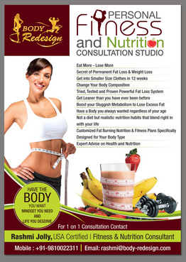 1 Page Flyer for Fitness & Nutrition Consultant Marketing collateral  Draft # 60 by destudio