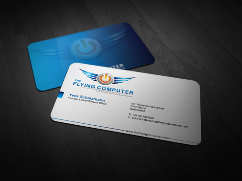 The Flying Computer Business Cards and Stationery  Draft # 241 by i3designer