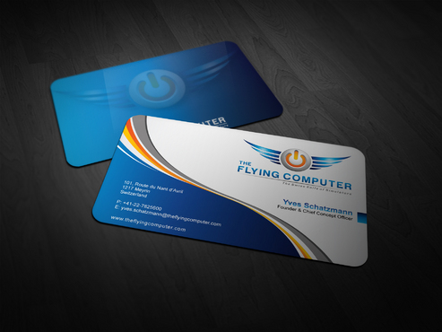 The Flying Computer Business Cards and Stationery  Draft # 242 by i3designer