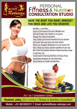 1 Page Flyer for Fitness & Nutrition Consultant Marketing collateral  Draft # 75 by destudio