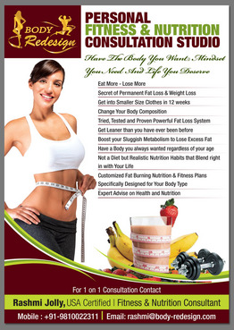 1 Page Flyer for Fitness & Nutrition Consultant Marketing collateral  Draft # 78 by destudio