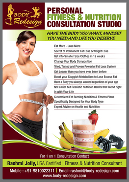 1 Page Flyer for Fitness & Nutrition Consultant Marketing collateral  Draft # 91 by destudio
