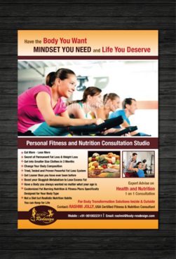 1 Page Flyer for Fitness & Nutrition Consultant Marketing collateral  Draft # 92 by dotscoms