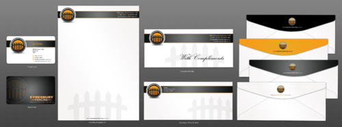 Business Card, letterhead, with compliment slip, envelope