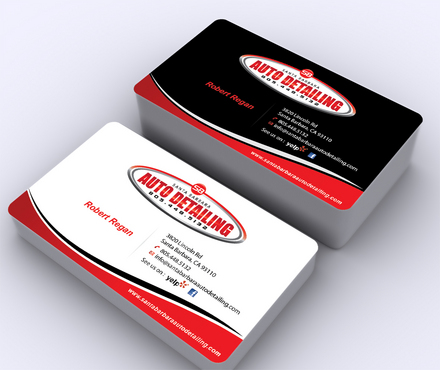 Santa Barbara Auto Detailing Business Cards and Stationery  Draft # 147 by ArtworksKingdom