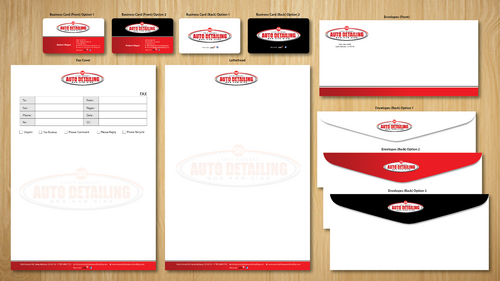 Santa Barbara Auto Detailing Business Cards and Stationery  Draft # 149 by ArtworksKingdom