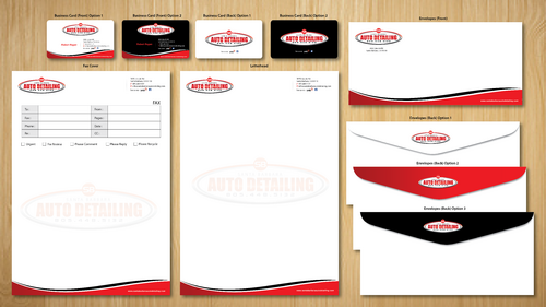Santa Barbara Auto Detailing Business Cards and Stationery  Draft # 150 by ArtworksKingdom