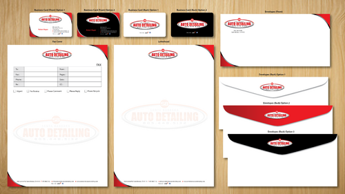 Santa Barbara Auto Detailing Business Cards and Stationery  Draft # 151 by ArtworksKingdom