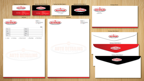 Santa Barbara Auto Detailing Business Cards and Stationery  Draft # 152 by ArtworksKingdom