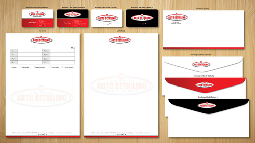 Santa Barbara Auto Detailing Business Cards and Stationery  Draft # 153 by ArtworksKingdom