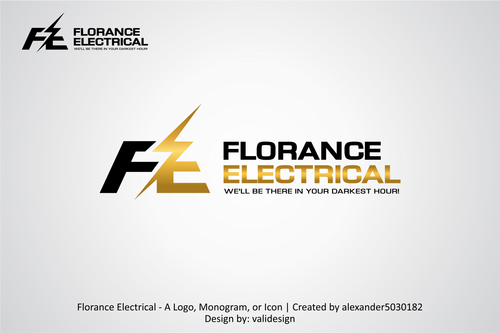 Florance Electrical  A Logo, Monogram, or Icon  Draft # 5 by validesign