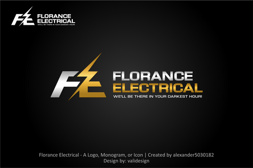 Florance Electrical  A Logo, Monogram, or Icon  Draft # 6 by validesign