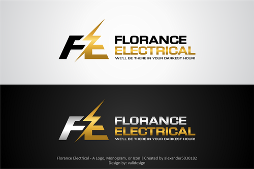 Florance Electrical  A Logo, Monogram, or Icon  Draft # 88 by validesign