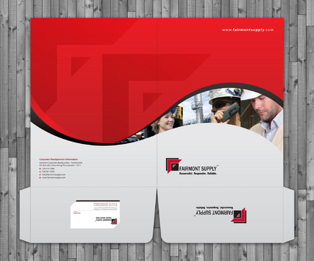 two pocket marketing collateral folder