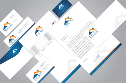 Stationary package for a residential construction company