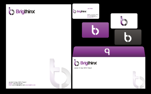 Brigthinx s.r.o. Business Cards and Stationery  Draft # 45 by waqasss