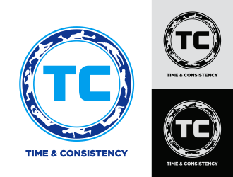"TC is the main logo, then need ""Time & Consistency"" somewhere around it"