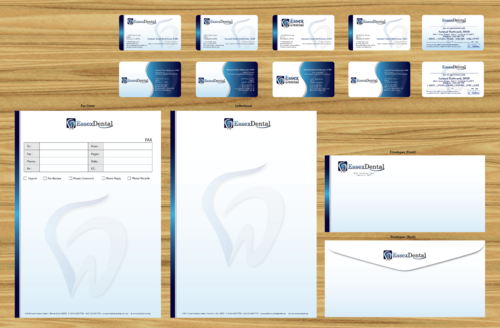 Business Cards and Stationaries for Essex Dental